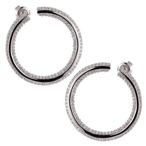 Фото - JV Серебряные серьги с кубическим цирконием AKMS002E-W-SR-001-WG jv серебряные серьги с кубическим цирконием pv20969clrh00 sr 001 wg