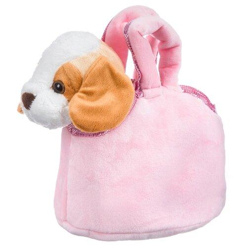 Мягкая игрушка Bondibon Милота Бигль в розовой сумке 20 см