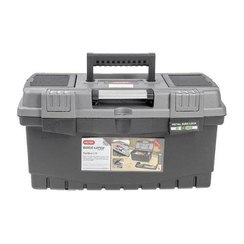 Ящик с органайзером KETER Quick Latch Toolbox (17186820) 48.5x26x25 см черный/серый хозяйственный блок keter oakland 7511 серый 17201421
