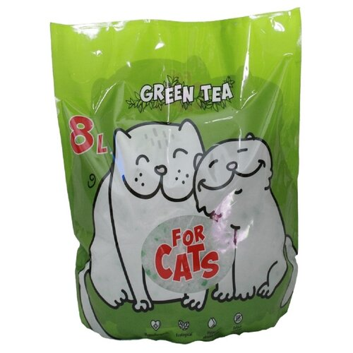 Фото - Силикагелевый наполнитель For Cats с ароматом зеленого чая, 8 л впитывающий наполнитель for cats с ароматом зеленого чая 4 л