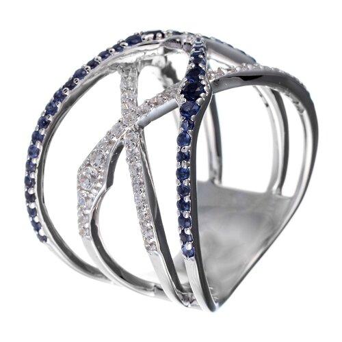 Фото - ELEMENT47 Широкое ювелирное кольцо из серебра 925 пробы с кубическим цирконием YC0025_BLWR_001_WG, размер 18 element47 широкое ювелирное кольцо из серебра 925 пробы с кубическим цирконием 05s2azr104804curi 001 wg размер 18