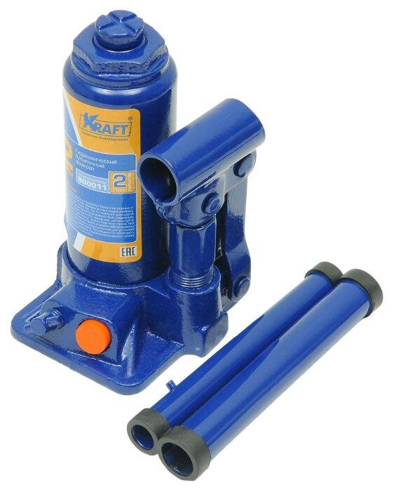 Домкрат бутылочный гидравлический KRAFT КТ 800011 (2 т)