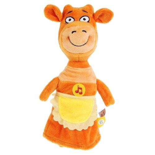Мягкая игрушка Мульти-Пульти Оранжевая корова Мама Корова 27 см, музыкальный чип