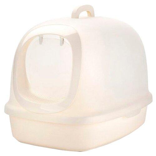 Туалет-домик для кошек N1 МАК41/42 46х46х62 см белый 1 шт.