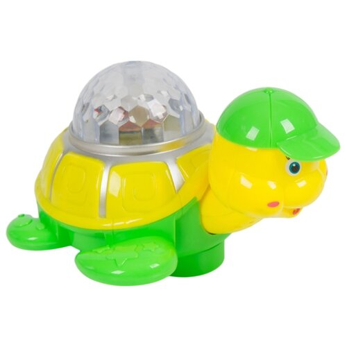 Купить Развивающая игрушка Qijia Toys Черепаха (696-F2) желтый/зеленый, Развивающие игрушки