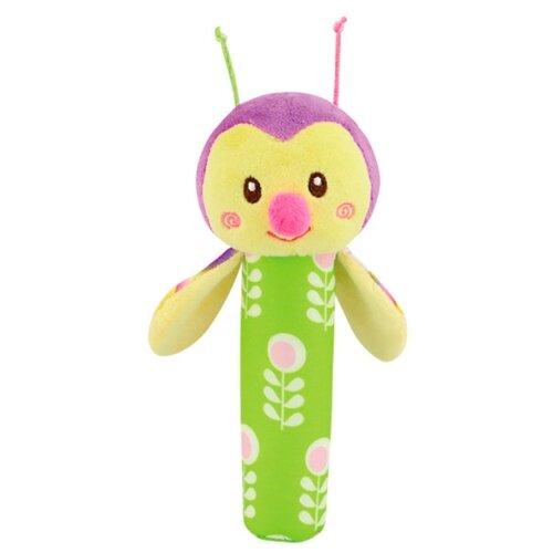 Погремушка Азбукварик Люленьки пищалка Пчёлка зеленый/желтый/розовый фото