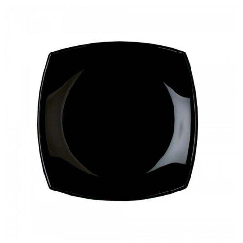 Luminarc Тарелка десертная Quadrato 19х19 см black