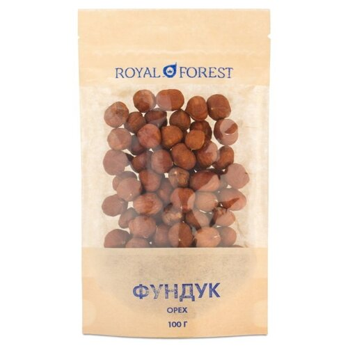 Фундук ROYAL FOREST необжаренный бумажный пакет 100 г фото