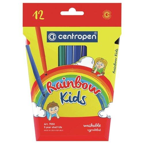 Фото - Centropen Набор фломастеров Rainbow Kids, 12 шт. (7550/12) centropen набор фломастеров rainbow kids 12 шт 7550 12
