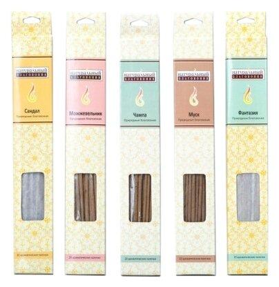 Благовония-палочки Индокитай NR-1395/105 (5 ароматов) 25 см