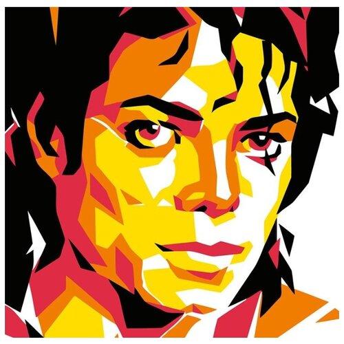 Купить Картина по номерам Живопись по Номерам Майкл Джексон , 40x40 см, Живопись по номерам, Картины по номерам и контурам