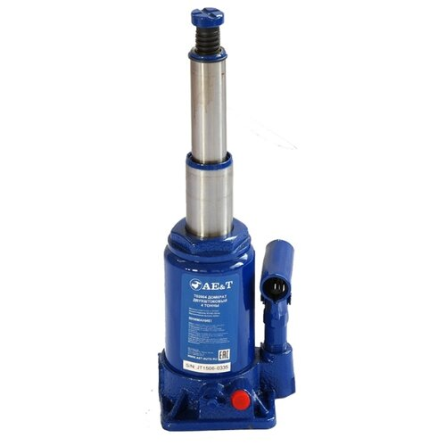 Домкрат бутылочный гидравлический AE&T T02004 (4 т) синий
