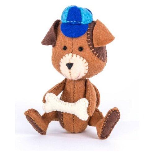 Перловка Набор для создания игрушки из фетра Щенок (ПФД-1053), Изготовление кукол и игрушек  - купить со скидкой