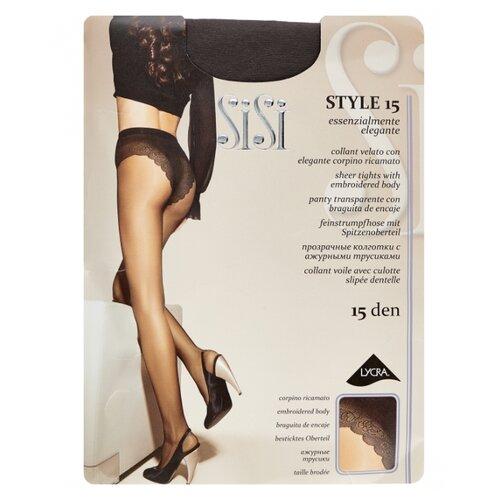 Колготки Sisi Style 15 den, размер 4-L, grafite (серый) колготки sisi miss 15 den размер 4 l grafite серый