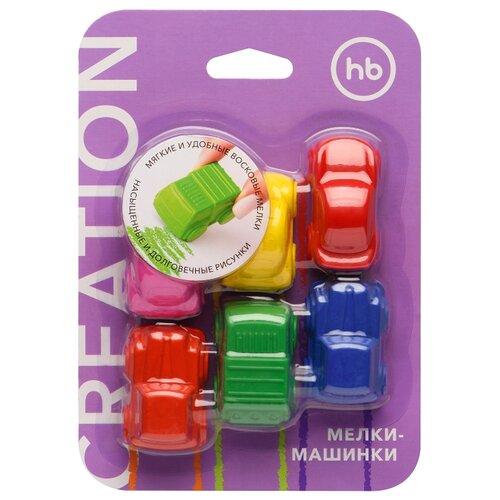 Купить Happy Baby Восковые мелки-машинки Creation 6 цветов (36000), Пастель и мелки