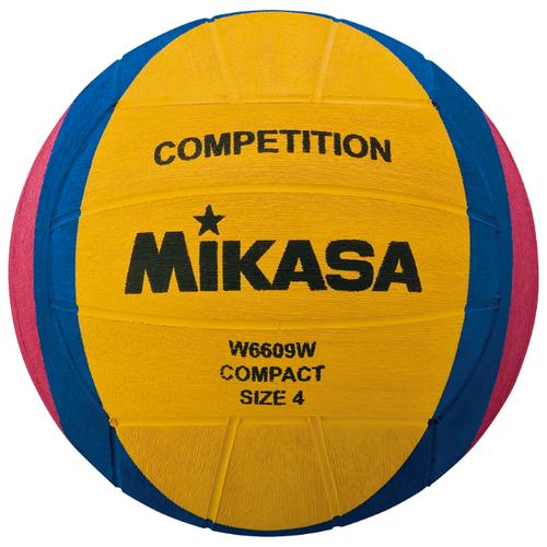Мяч для водного поло Mikasa W6609W желтый/синий/розовый