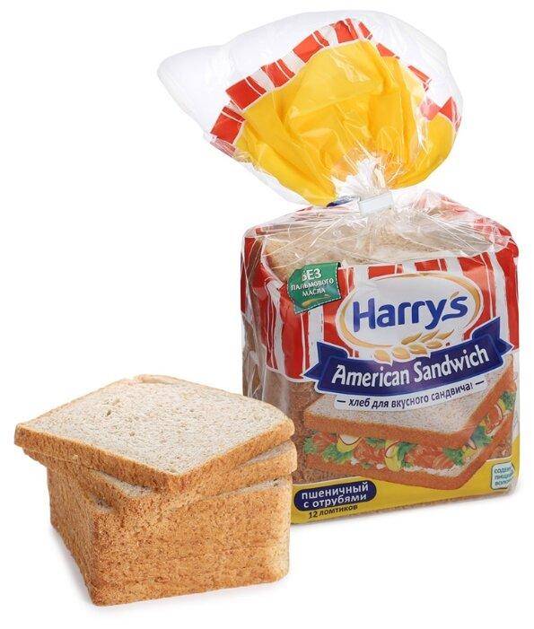 Harrys Хлеб American Sandwich пшеничный с отрубями сандвичный в нарезке 515 г