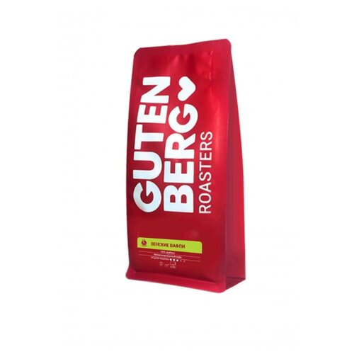 Кофе молотый Gutenberg Венские вафли ароматизированный, 250 г чай листовой gutenberg марокканский апельсин черный ароматизированный 500 г