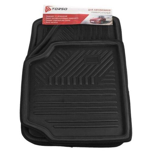 Комплект ковриков Torso 5099301 4 шт. черный