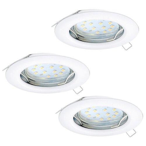 Встраиваемый светильник Eglo Peneto 94235, 3 шт. встраиваемый светодиодный светильник eglo peneto 1 95899