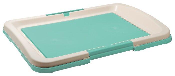 Туалет для собак (японский стиль) 63*49*6 см (зелёный)