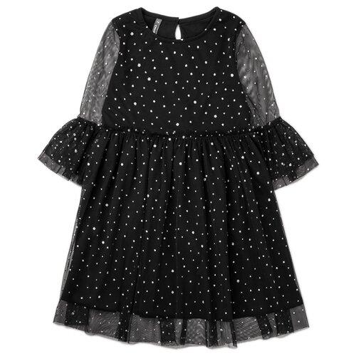 Купить Платье crockid размер 134, черный, Платья и сарафаны