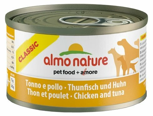 Корм для собак Almo Nature Classic курица, тунец 95г