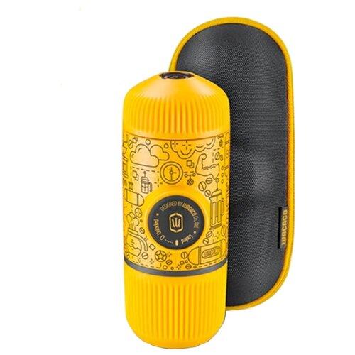 Кофеварка рожковая Wacaco Nanopresso c жёстким чехлом yellow tattoo