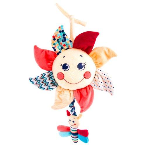 Купить Подвесная игрушка Happy Snail Подсолнух (19HS005MP) бежевый/красный, Подвески