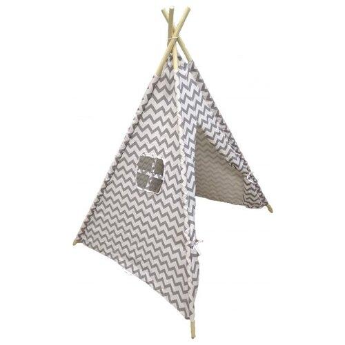 Палатка Shantou Chenghai MingXuan Toys Factory Вигвам 120х120х150см TN00011 белый/серый