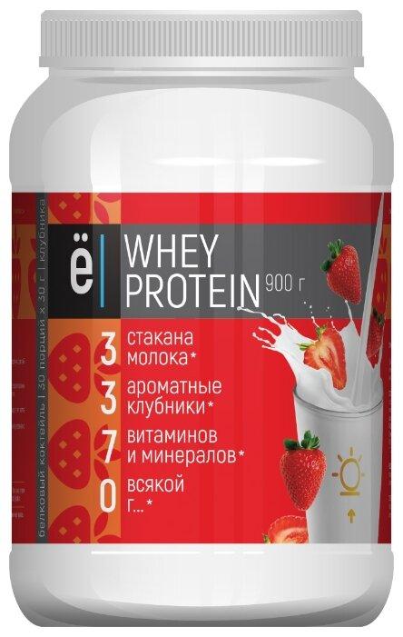 """Купить белковый коктейль """"Whey Protein со вкусом клубники ТМ Ёбатон 900гр по низкой цене с доставкой из Яндекс.Маркета"""