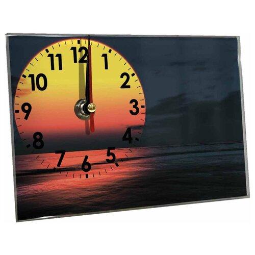 Часы настольные Идеал Закат темно-синий виши идеал солей 30