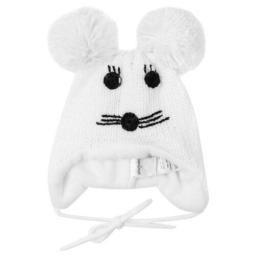 Шапка playToday размер 46, белый шапка playtoday размер 46 сиреневый