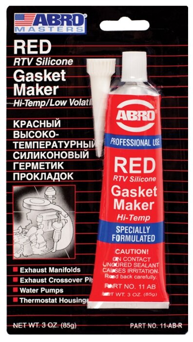 Герметик для ремонта автомобиля ABRO 11-AB-R, 0.085 кг