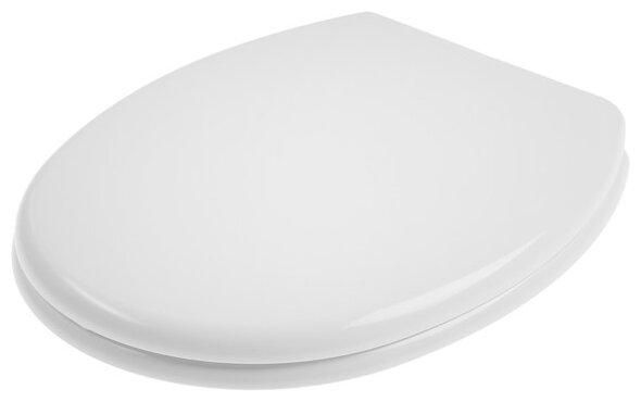 Купить Крышка-сиденье для унитаза АНИ Пласт WS0100 пластик белый по низкой цене с доставкой из Яндекс.Маркета