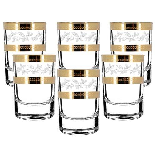 Набор стопок ГУСЬ-ХРУСТАЛЬНЫЙ Лоза TAV116-837 55 мл, 6 шт гусь хрустальный набор бокалов для бренди лоза tav116 1812 6 шт прозрачный золотой
