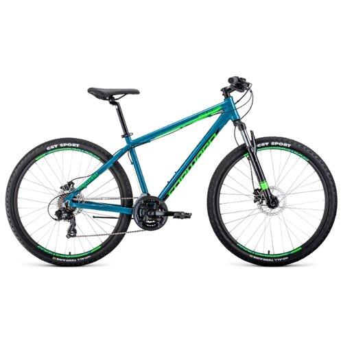 Фото - Горный (MTB) велосипед FORWARD Apache 27.5 3.0 Disc (2020) бирюзовый/салатовый 21 (требует финальной сборки) горный mtb велосипед stels miss 5000 md 26 v010 2019 бирюзовый 17 требует финальной сборки