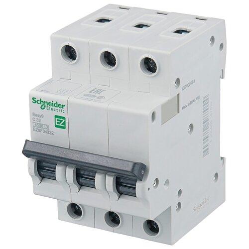 Автоматический выключатель Schneider Electric Easy 9 3P (C) 4,5kA 32 А автоматический выключатель schneider electric ez9f34306 easy 9 3p 6a c