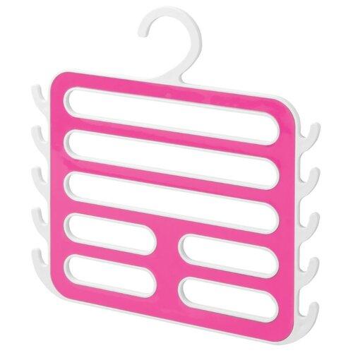 Вешалка InterDesign Для платков и аксессуаров Remy белый/розовый