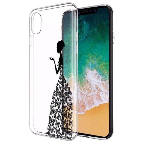 Чехол UVOO U000031APP/U004556APP для Apple iPhone X/Xs Девушка в платье из бабочек 1