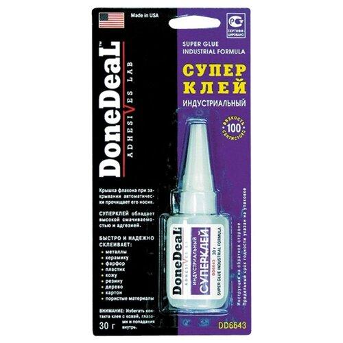 Клей цианоакрилатный DoneDeal индустриальный DD6643 клей donedeal dd6643 30гр супер индустриальный