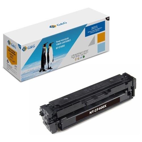 Фото - Картридж лазерный G&G NT-CF400X черный (2800стр.) для HP CLJ M252/252N/252DN/252DW/M277n/M277DW тонер картридж static control 002 01 sf402x cf402x желтый 2300стр для hp clj m252 252n 252dn 252dw m277n m277dw
