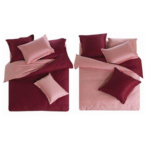 Постельное белье 1.5-спальное СайлиД L-1, сатин бордовый/розовый постельное белье сайлид а97 1 двуспальное