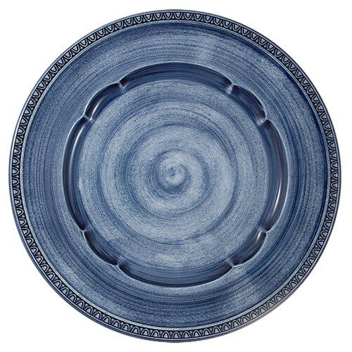 Тарелка обеденная Matceramica Augusta (синий) без инд. упаковки, керамика, 27 см (MC-F566200328D1381)