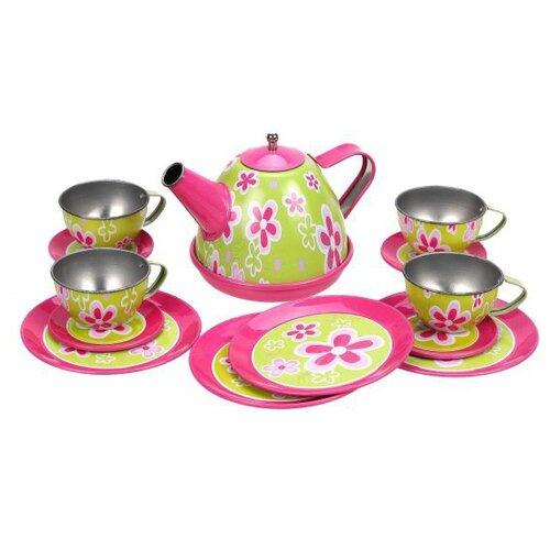 Набор посуды Наша игрушка 831112AW розовый/салатовый игрушка