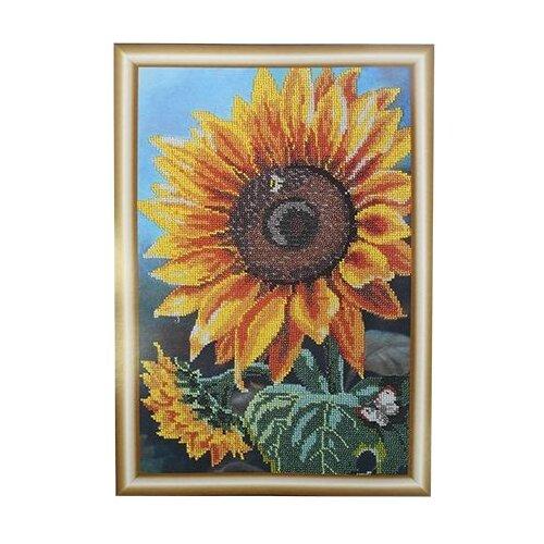 Купить Hobby & Pro Набор для вышивания бисером Цветок солнца 25 х 39 см (БН-3122), Наборы для вышивания
