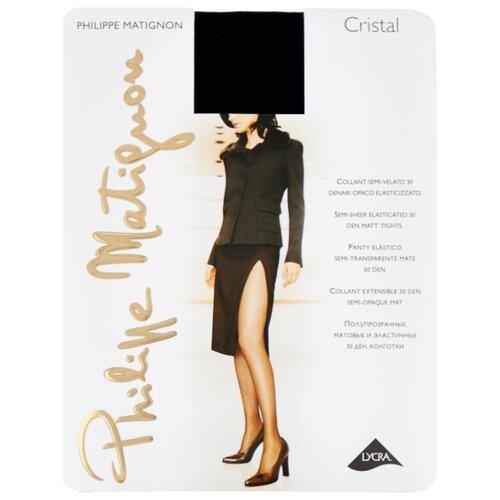 Колготки Philippe Matignon Cristal 30 den, размер 5-MAXI-XL, nero (черный) колготки philippe matignon cristal 30 den размер 5 maxi xl glace бежевый