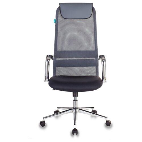 Компьютерное кресло Бюрократ KB-9N для руководителя, обивка: текстиль/искусственная кожа, цвет: серый