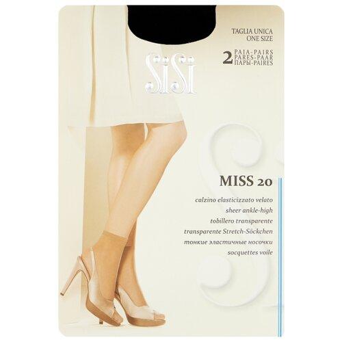 Капроновые носки Sisi Miss 20 den New, 2 пары, размер 0 ( one size), nero