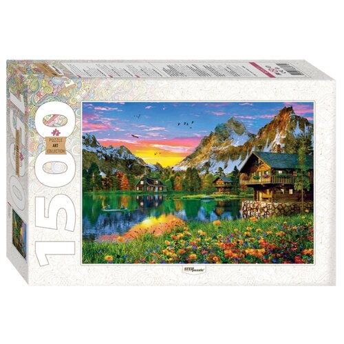 Мозаика puzzle 1500 Озеро в Альпах